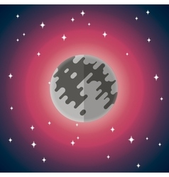 Flat icon of moon vector