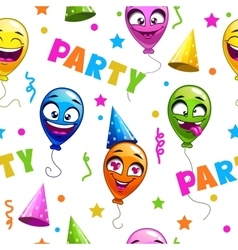 Funny seamless pattern with party decor elements vector