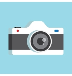 Photo camera with lens vector