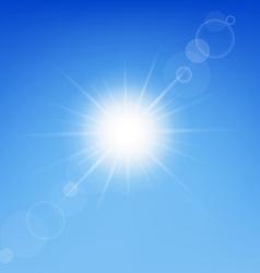 Clear sunny sky vector image