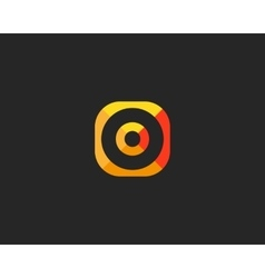 Abstract target logo design aim creative symbol vector