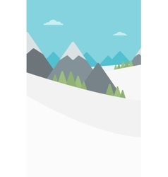 Background of snow capped mountain vector image