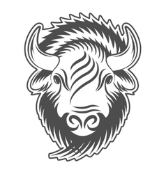 Bison head sign emblem logo vector