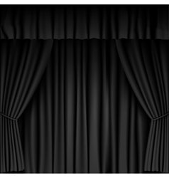 black curtain vector image