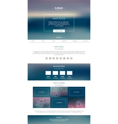 Clean minimalistic landing page vector