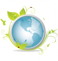 ecological earth icon vector image vector image