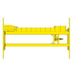 Factory overhead crane vector