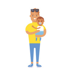 Family people adult happiness smiling father with vector