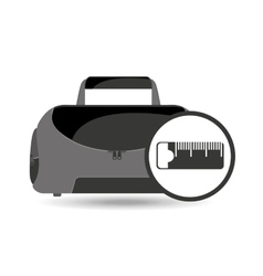 fitness sport bag icon measure tape vector image