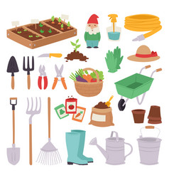Gardening icon set agriculture design spring vector