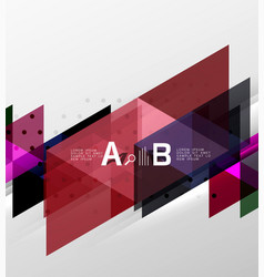geometric abstract background vector image vector image