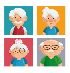 Grandparents portrait design vector
