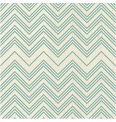 Green retro zig zag vector image vector image