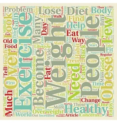 How to lose weight the healthy way text background vector