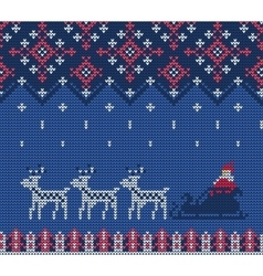 Knitted sweater pattern vector