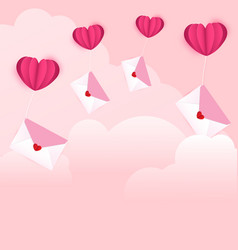 love letters on the cloud vector image