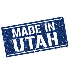 Made in utah stamp vector