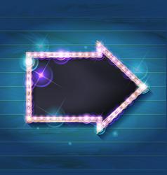 Marquee arrow symbol vector