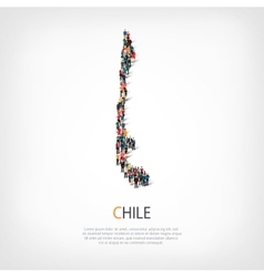 People map country chile vector