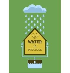 Rainwater collection vector