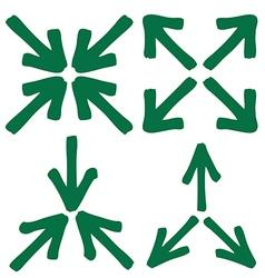 set of arrow 3 1 vector image vector image