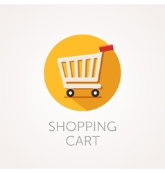 shopping cart Icon Flat style design vector image vector image