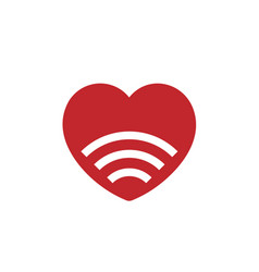 Signal love icon vector