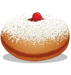 Sufganiyah Hanukkah Donut vector image