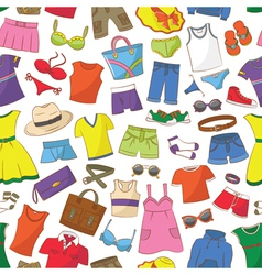 Summer Womens And Men Wear vector image vector image