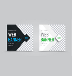 template of square web banners with a place for a vector image