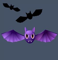 terrible purple vampire bat vector image vector image