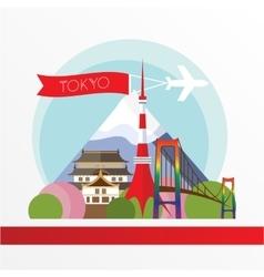 Tokyo detailed silhouette trendy vector