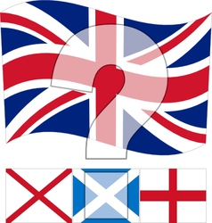 Un united kingdom - all flags in union jack vector