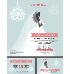 Wedding Bridal shower invitationCartoon bride vector image