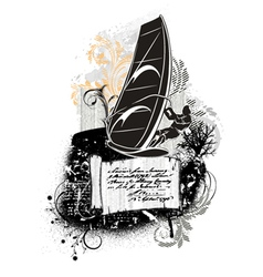 windsurf summer background vector image