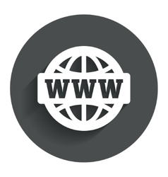 Www sign icon world wide web symbol vector