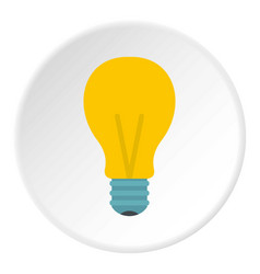 Yellow light bulb icon circle vector