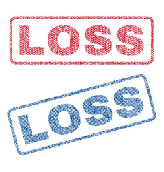 Loss textile stamps vector