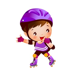 Boy on rollerblades vector