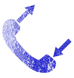 phone talking grunge textured icon vector image