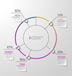 Pie chart infographics element vector