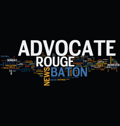 Baton rouge animal shelter text background word vector