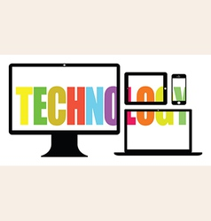 Colourful technology vector
