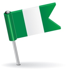 Nigerian pin icon flag vector