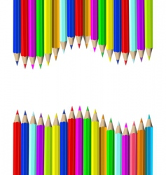 wooden pencils vector image