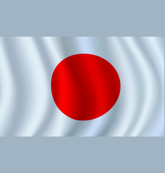 3d flag of japan japanese national symbol vector image vector image