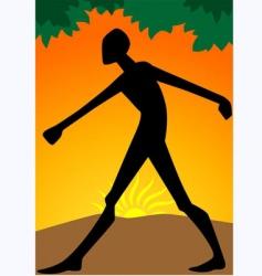 man walking vector image
