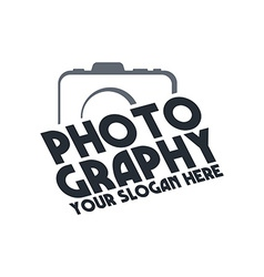 photography theme template vector image