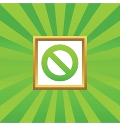 No sign picture icon vector