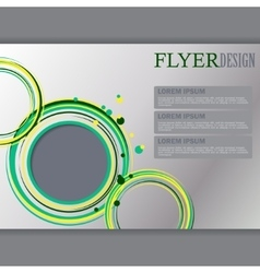 Horizontal flyer template vector